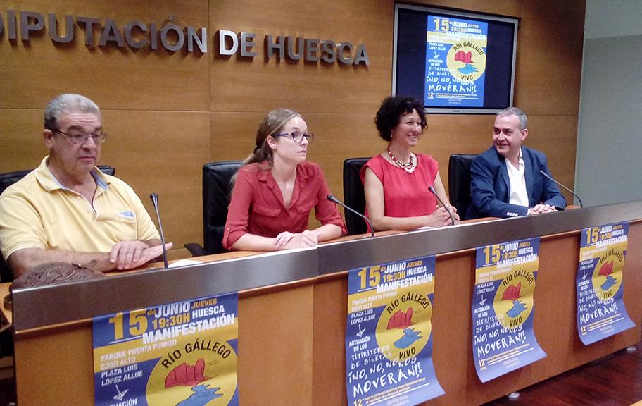 Habitantes de la Galliguera siguen mostrando su postura contraria a la construcción del pantano de Biscarrués