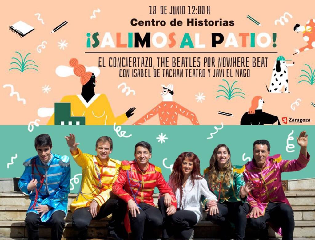 """El patio del Centro de Historias acoge el espectáculo """"El Conciertazo. The Beatles por Nowhere Beat"""""""