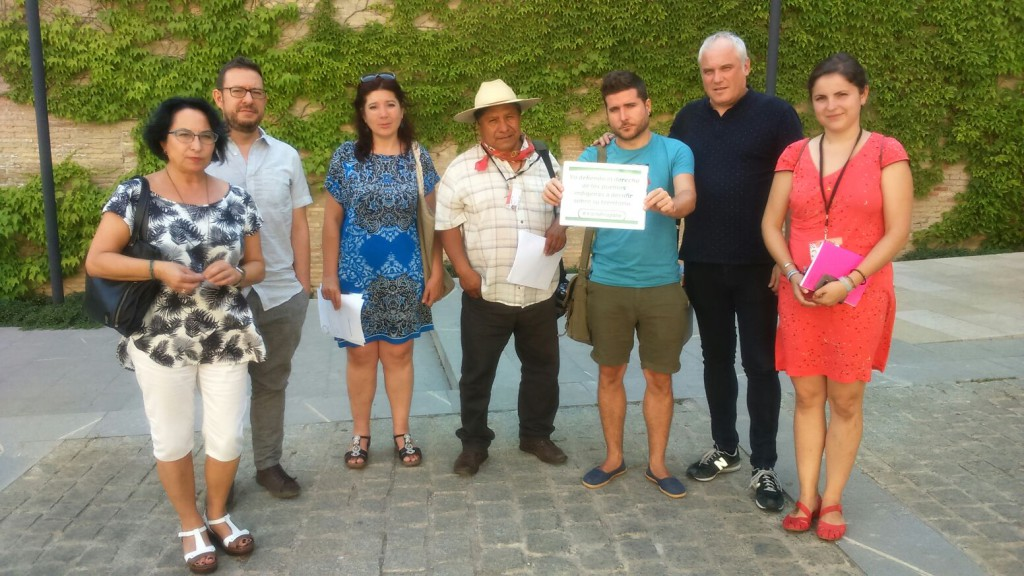 Llega a Zaragoza José Luis Fernández del Consejo Indígena en Defensa de la Madre Tierra