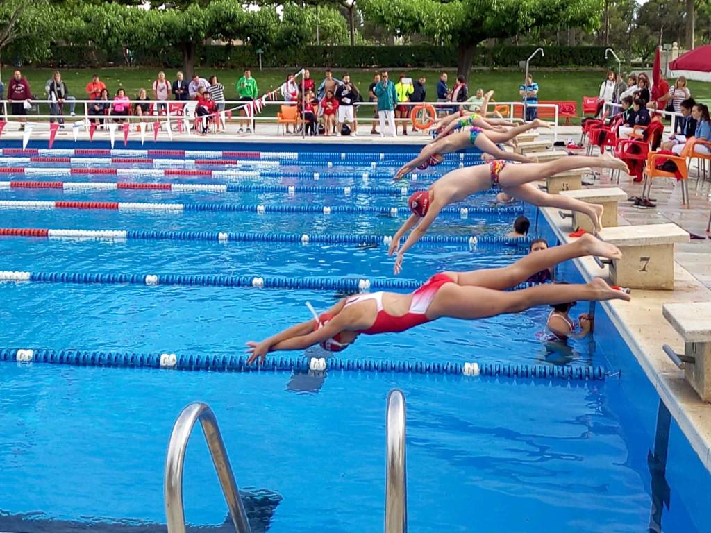 El Stadium Venecia acoge el Campeonato de Natación de Aragón de verano