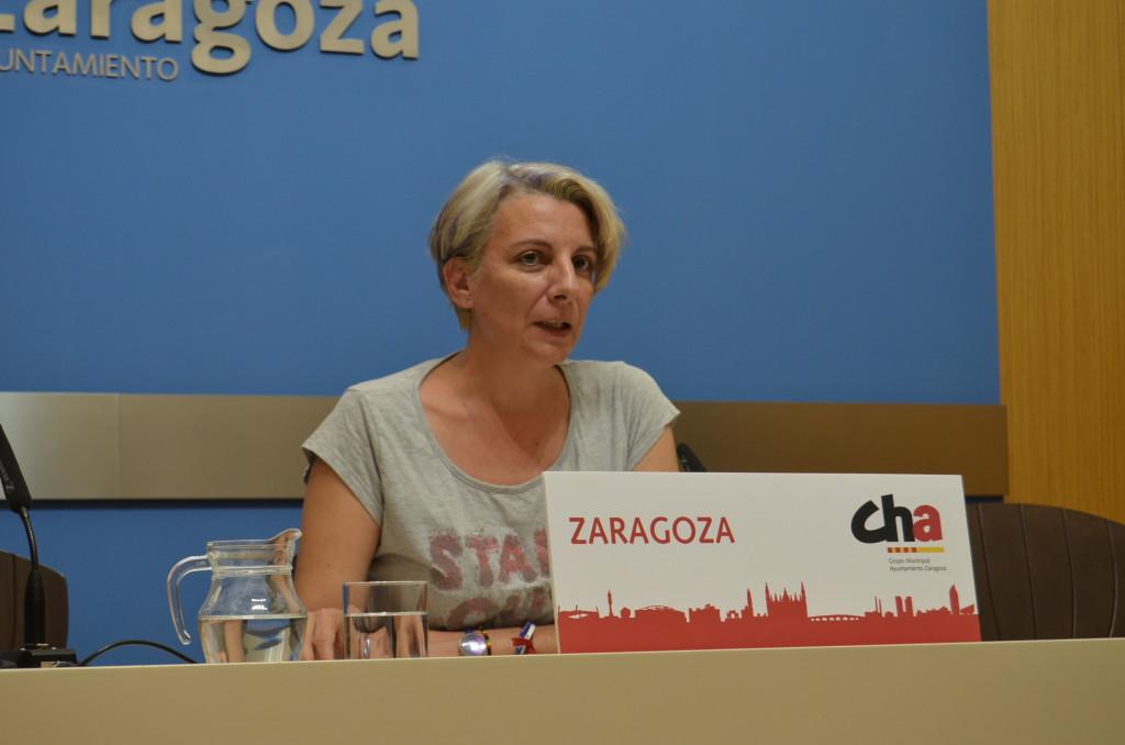 Leticia Crespo (CHA) exige que se garantice el empleo de los trabajadores de la Sociedad Zaragoza Arroba