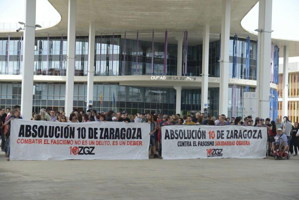 Primer juicio contra los 10 antifascistas de Zaragoza