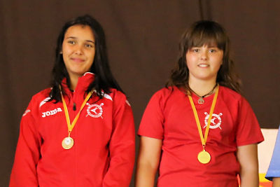 Judith Grau y Sara Serveto del Capri Club de Mequinensa logran la quinta plaza en el Campeonato Estatal de Remo en doble scull alevín