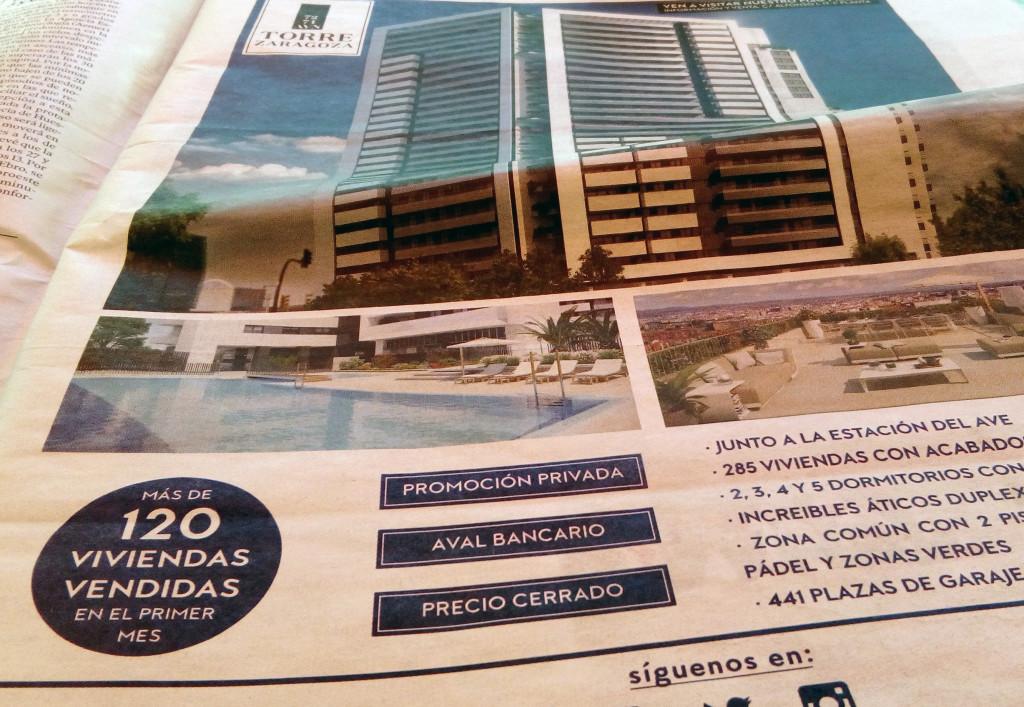 Grupo Plaza 14 anuncia la venta de pisos de un edificio para el que no tiene licencia