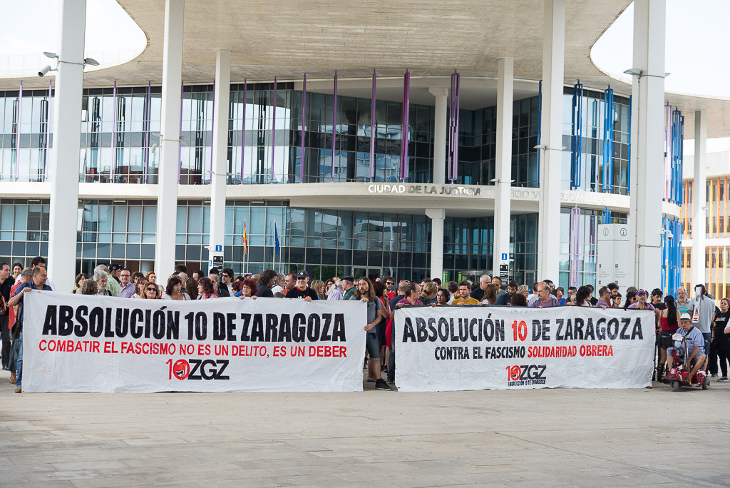 Asamblea 10 de Zaragoza continuará su campaña para afrontar los costes en responsabilidad civil, multas y gastos procesales