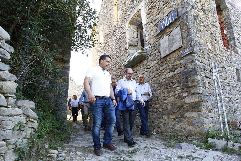 El Presidente de Aragón impulsará el desbloqueo del Plan de restitución de Chanovas