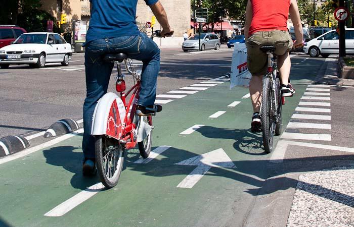 """Santisteve afirma que poner el carril bici de Sagasta es una """"decisión valiente"""" y en la que se ha buscado el máximo consenso"""