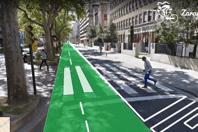 El Ayuntamiento de Zaragoza plantea el carril bici de Sagasta fuera del bulevar y que se permita el paso de vehículos