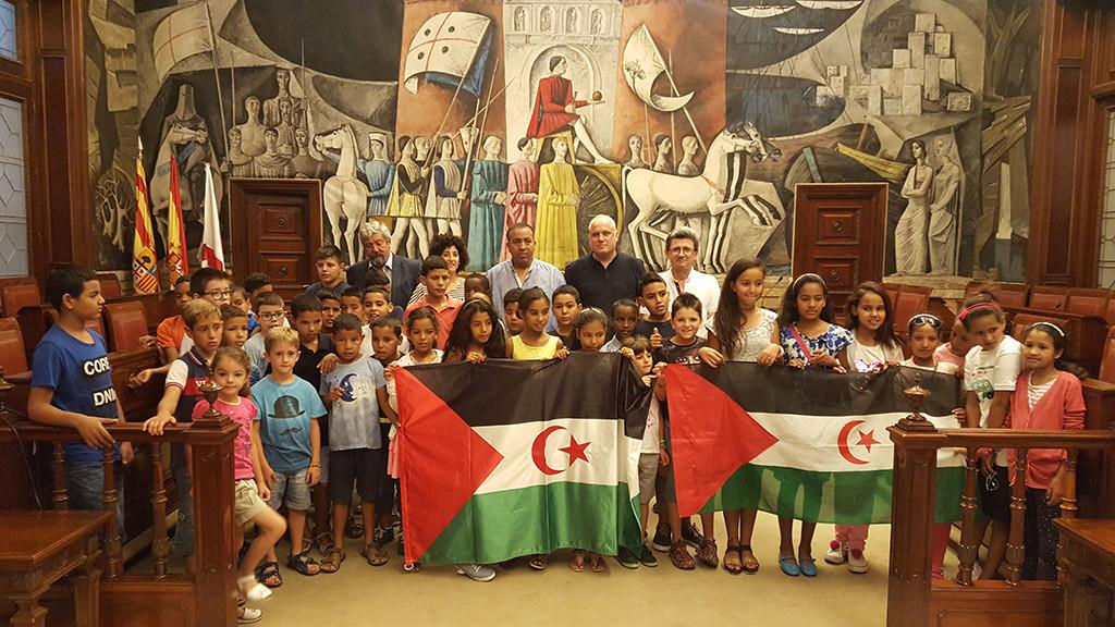 La DPZ recibe a los niños y niñas saharauis que pasan el verano en Aragón gracias al proyecto Vacaciones en Paz