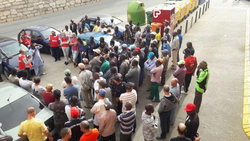Huelga de temporeros en Zaidín.