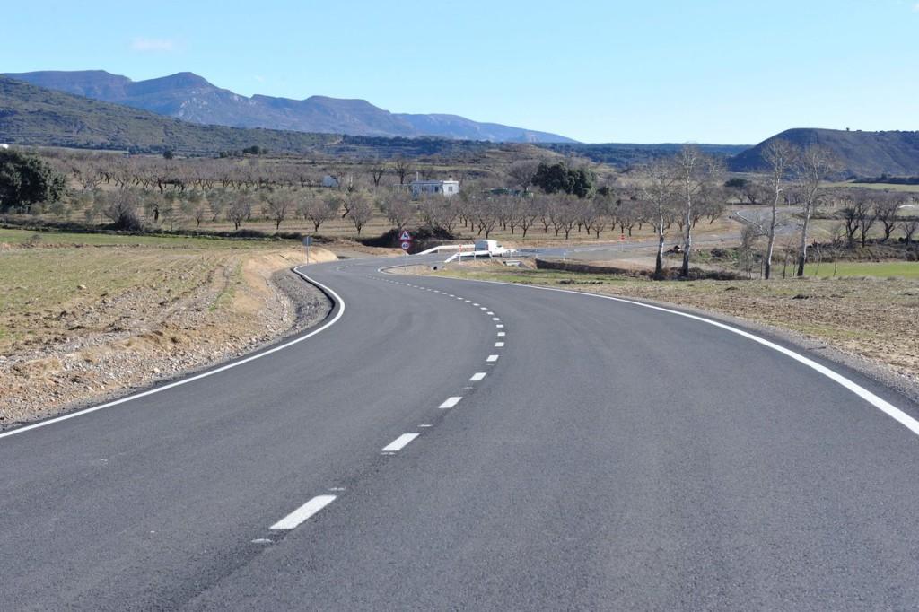 La Sotonera ya cuenta con una renovada carretera de acceso entre poblaciones