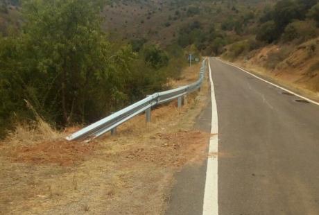 Mejora la seguridad en la carretera A-1509 entre Codos y Aguarón