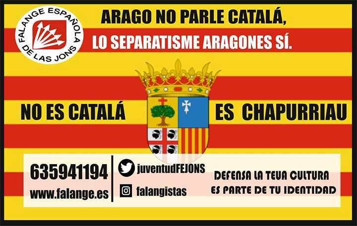 La Falange Española inicia una campanya contra el català a la Franja