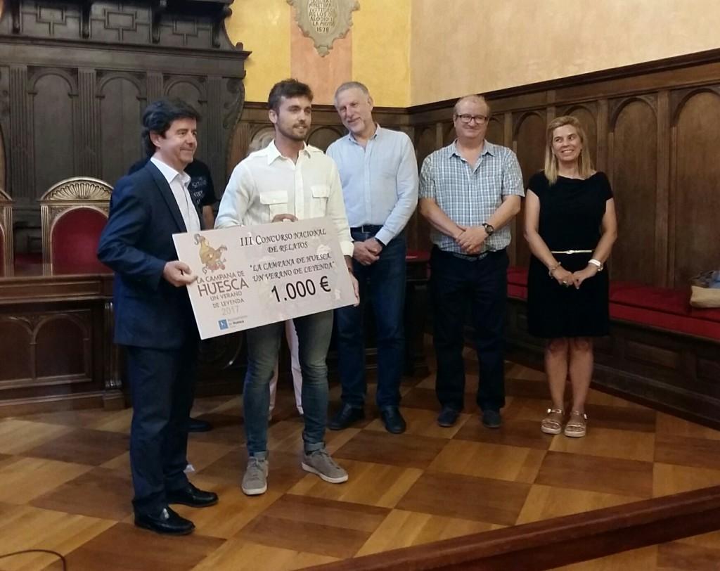 """Guillermo Borao ganador del III Concurso Internacional de Relato Corto """"Huesca, Leyenda Viva"""""""