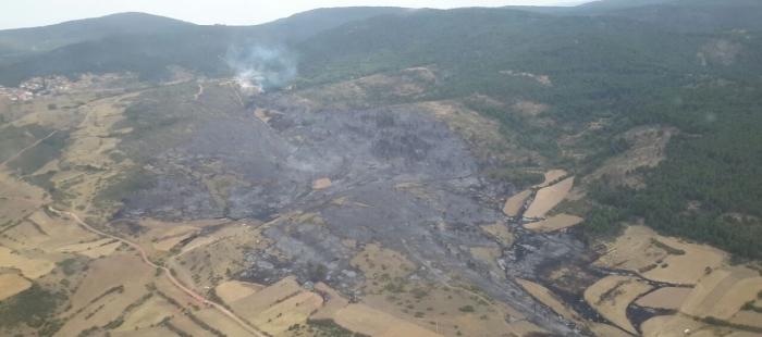 Controlado el incendio en Bronchales