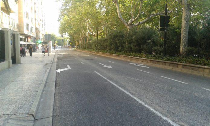 El carril bici de Sagasta comienza a instalarse el lunes 21 de agosto