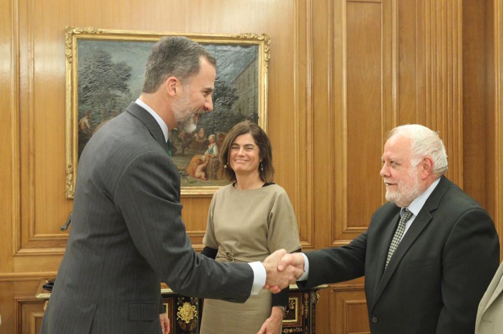 Audiencia con el rey Felipe VI del presidente Riay Tatary Bakry |Foto: Casa Real