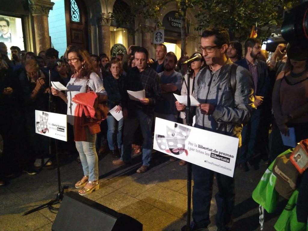 Profesionales de los medios de comunicación denuncian presiones por parte del Estado español