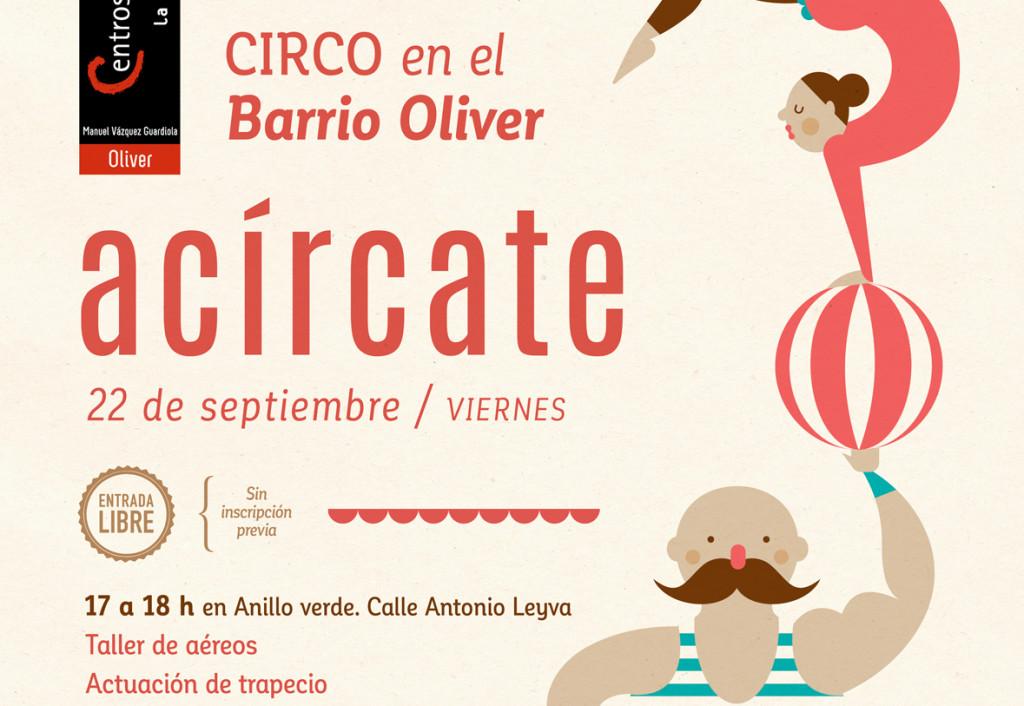 La Escuela de Circo Social de Zaragoza organiza una tarde de circo en el barrio de Oliver