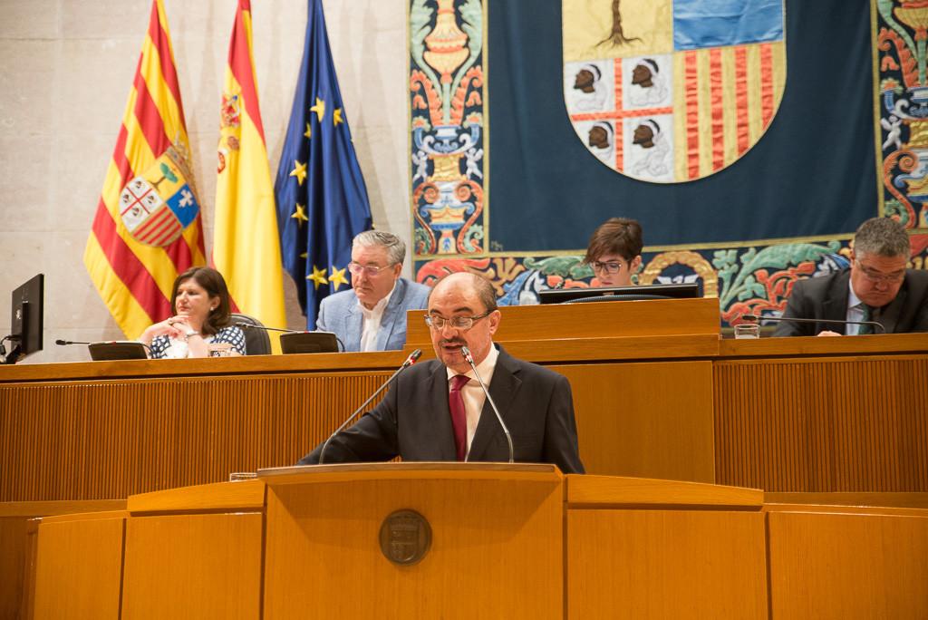 Javier Lambán ofrece un discurso falto de autocrítica en el Debate sobre el Estado de Aragón