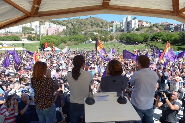 Acto de Catalunya en Comú y Podemos en Santa Coloma de Gramenet.