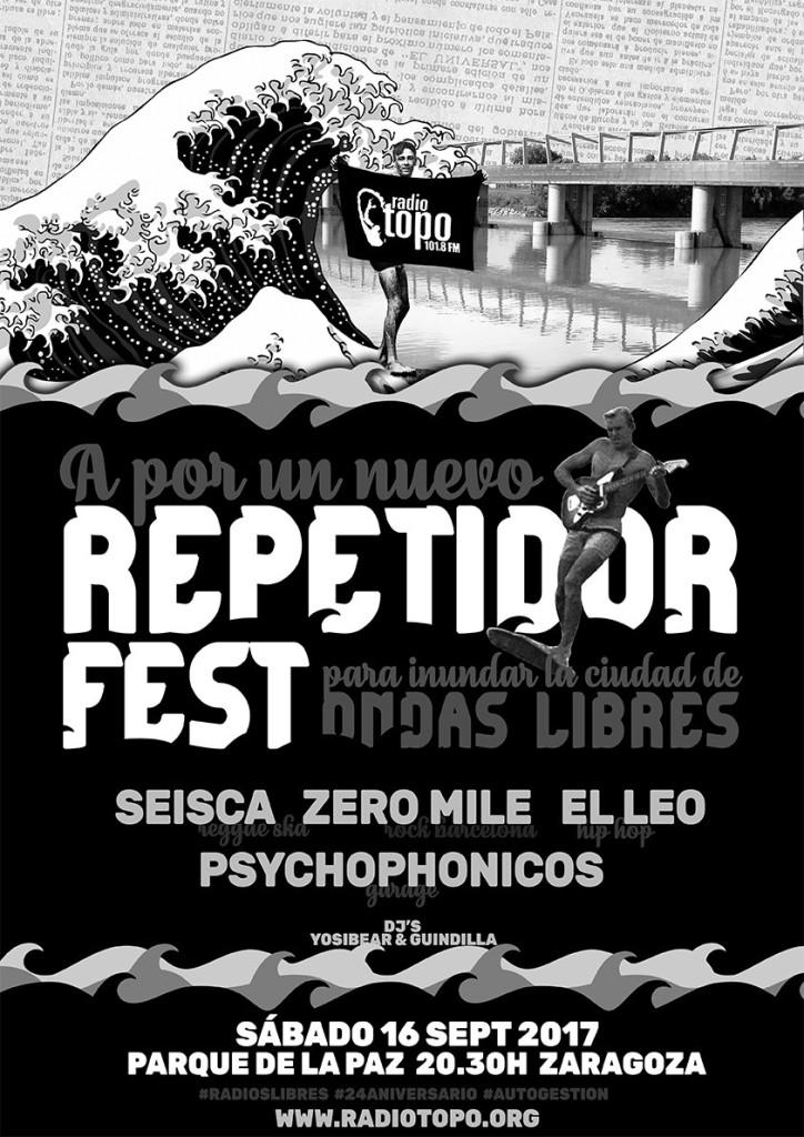«Repetidor Fest»: Radio Topo celebra su fiesta anual en el Parque de La Paz