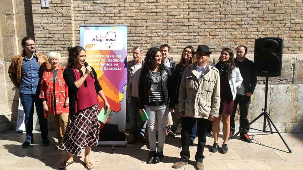 """Erika Sanz y J.A. Fatás presentan sus listas para Podemos Aragón y Podemos Zaragoza en las que combinan """"experiencia y renovación"""""""