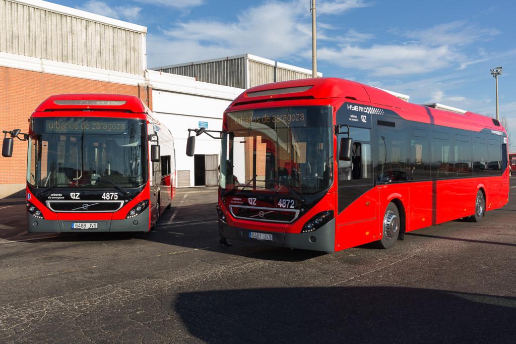 Los nuevos autobuses híbridos comienzan a llegar a Zaragoza