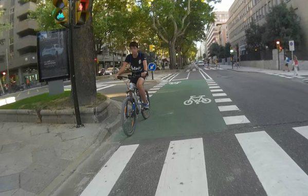 El Ayuntamiento de Zaragoza ultima ya el segundo tramo del carril bici de Sagasta