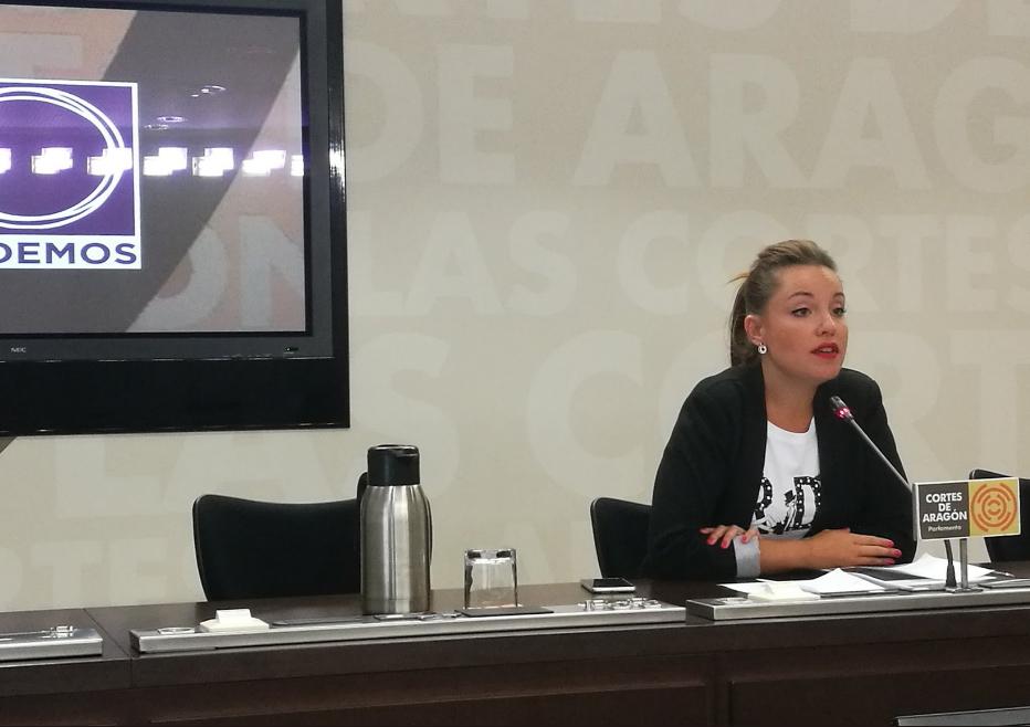 """Podemos pide a Lambán que reconozca la necesidad de un """"cambio de rumbo"""""""