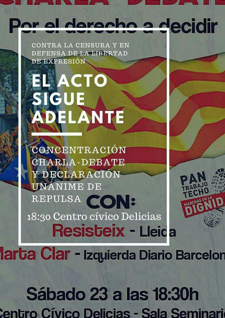 Las Marchas de la Dignidad en defensa del derecho a decidir, de los derechos civiles y contra la represión