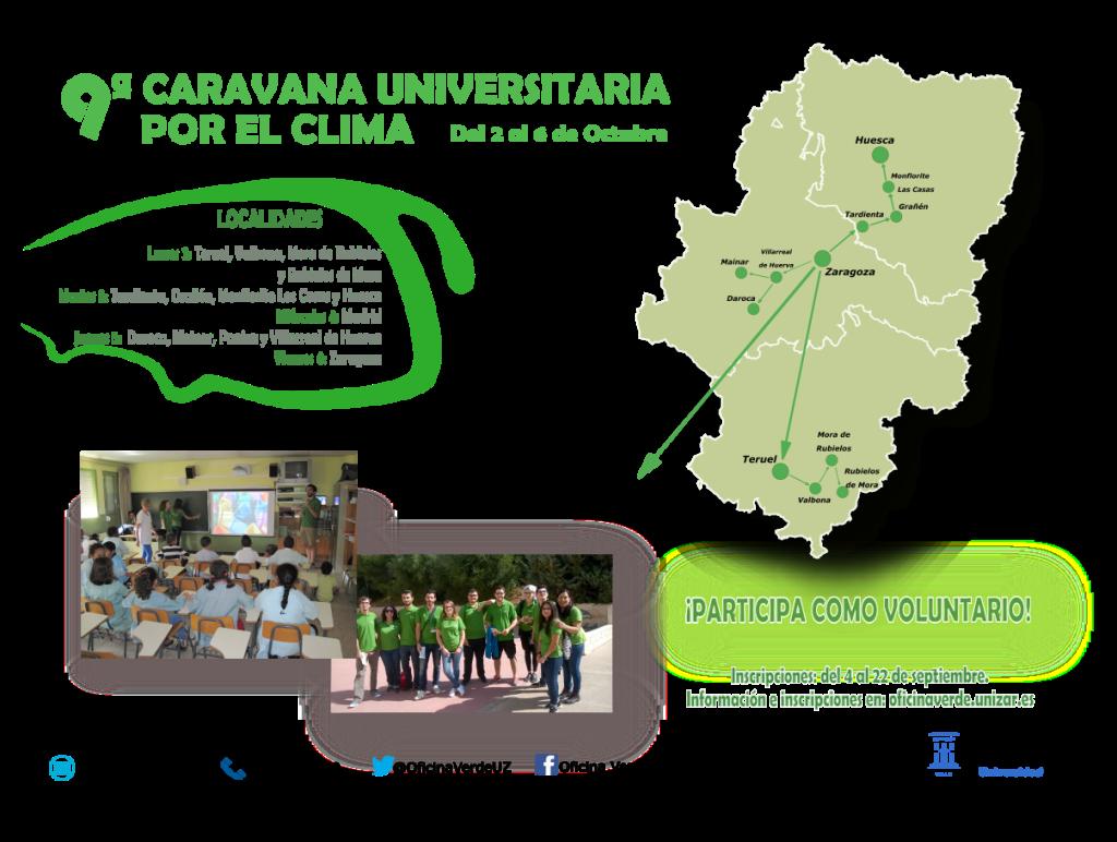 """La Caravana Universitaria por el Clima promueve """"buenas prácticas"""" ambientales en Granyén, Tardienta y Uesca"""
