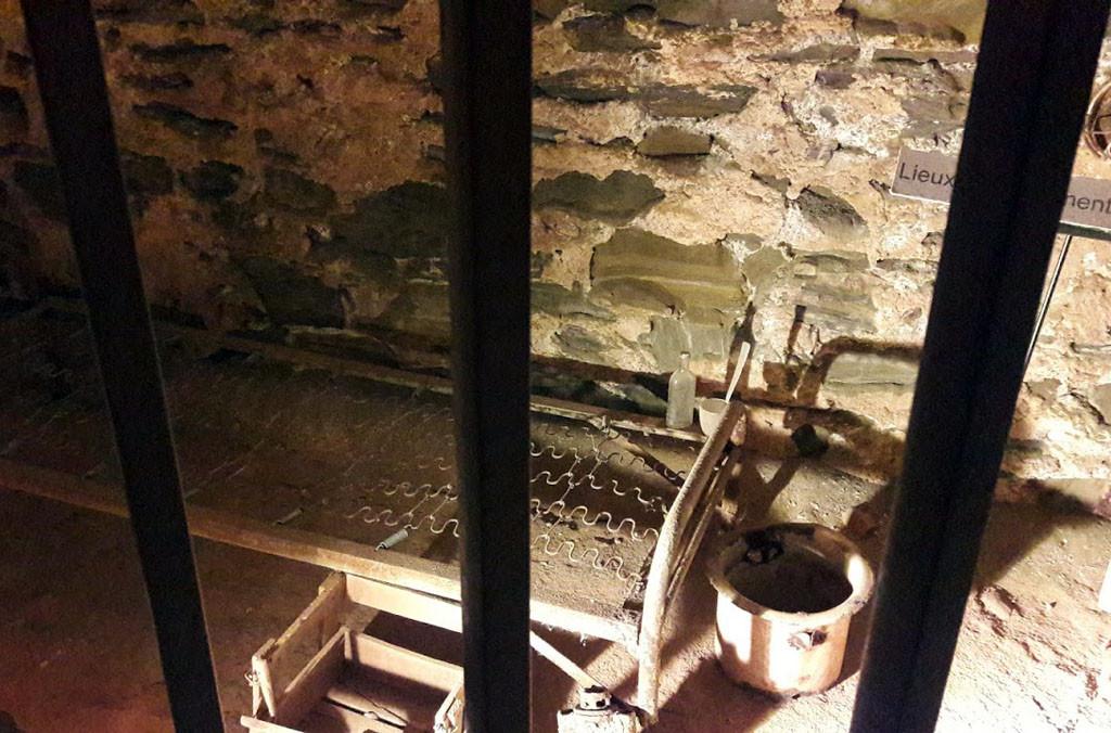 Celda republicana en el Castillo de Collioure. Foto: Miguel Ángel Conejos (AraInfo).