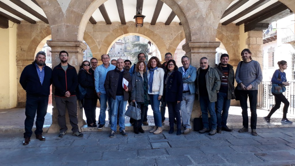 La Comisión de Coordinación Intercomarcal de CHA en Teruel se reúne en Albarrazín