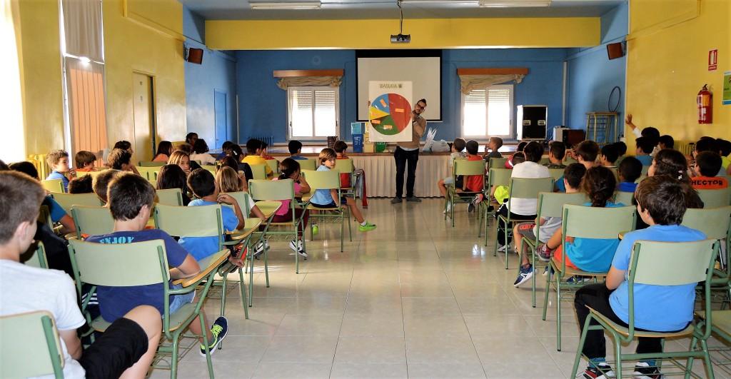 Tres centros educativos de Uesca inician un programa piloto de reciclaje