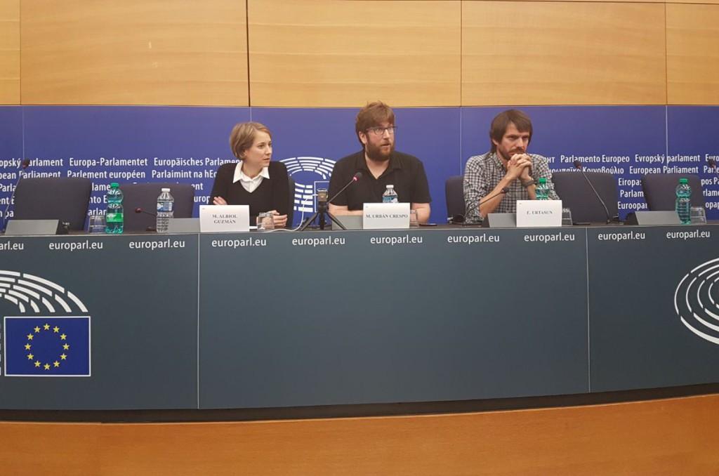 Marina Albiol, Miguel Urbán y Ernest Urtasun condenan la represión del Estado español en Catalunya y reclaman la mediación de la UE