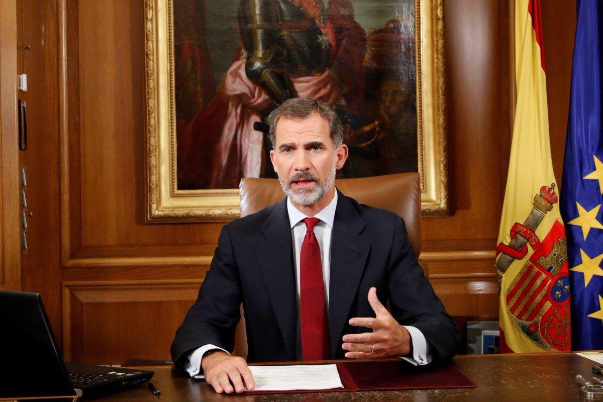 Felipe VI durante el discurso de este martes. Foto: Casa Real