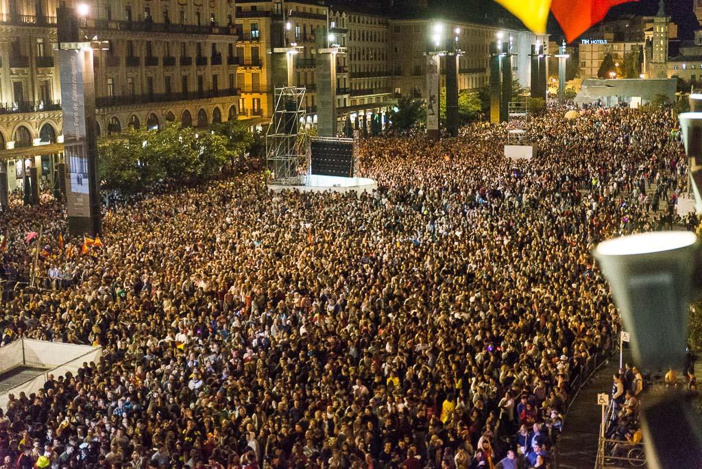 100.000 personas en el Pregón y presencia masiva de público en el primer fin de semana del Pilar 2017