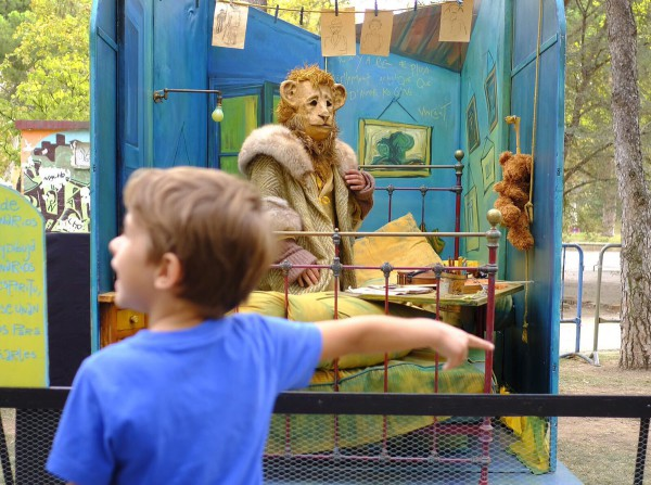 """""""Les Irréels"""" de Compagnie Creature en el Parque de Marionetas. Foto: AZ"""