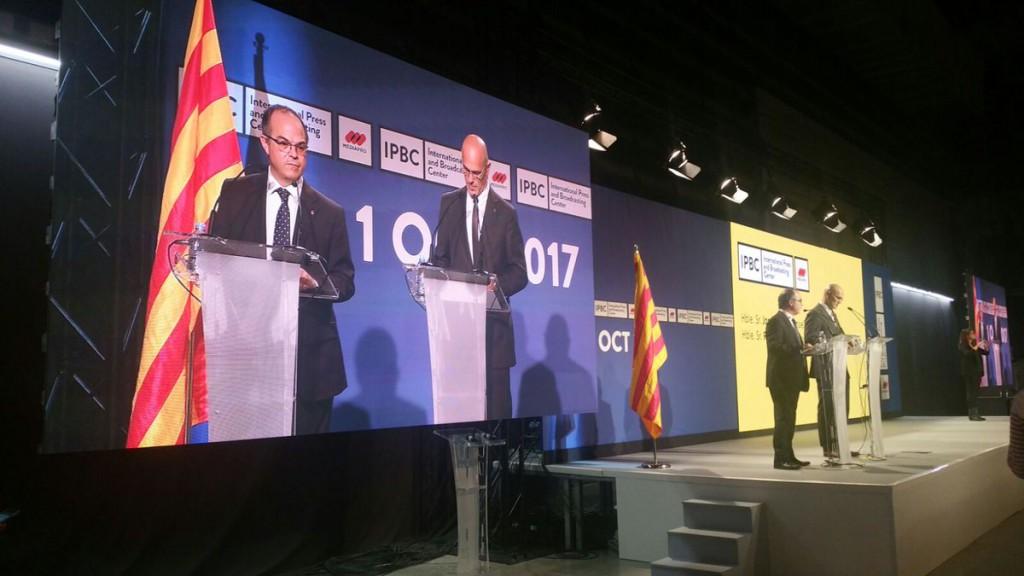 Turull exige la dimisión del delegado de Gobierno español en Catalunya y reclama a la comunidad internacional que actúe