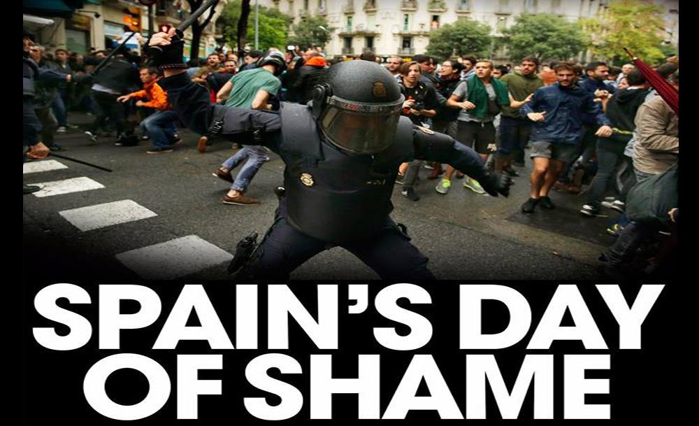 Clamor en la prensa internacional por la violencia estatal contra Catalunya