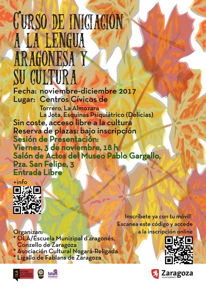 Curso de iniciación a la lengua y la cultura aragonesa en los centros cívicos