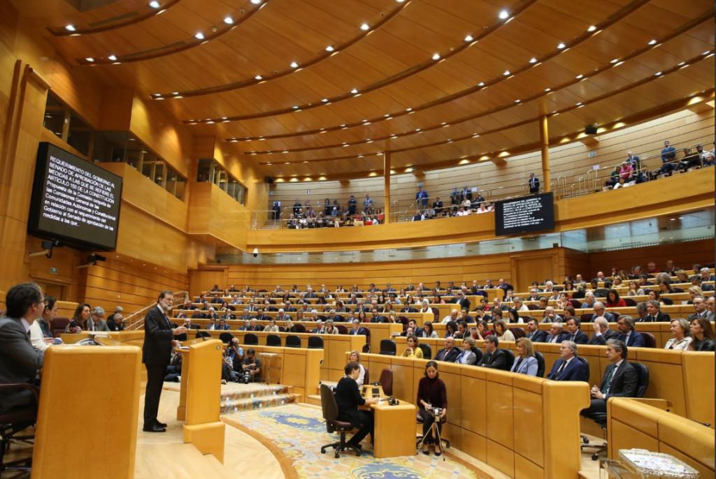 El Senado aprueba la aplicación del 155 y el BOE publica el acuerdo