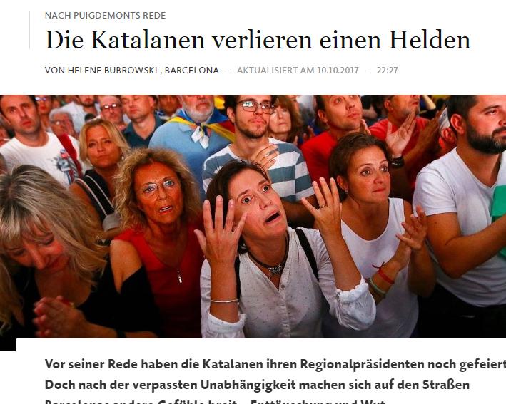 La prensa internacional ante la independencia de Catalunya