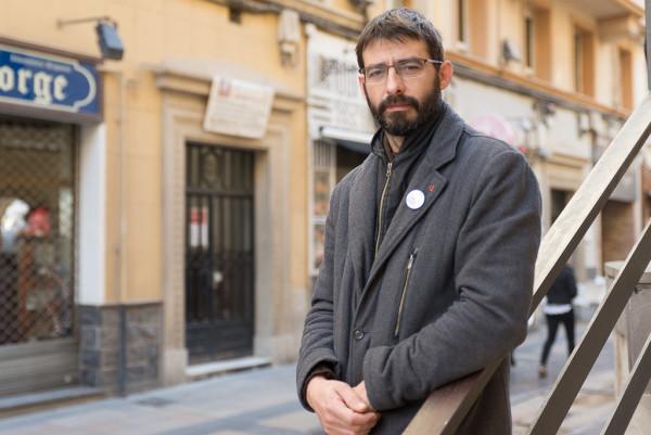 Álvaro Sanz, coordinador general de IU Aragón. Foto: Pablo Ibáñez (AraInfo)