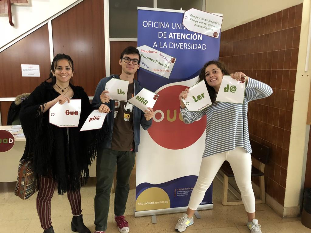 Llega al Campus de Uesca la campaña #Nomeetiquetes
