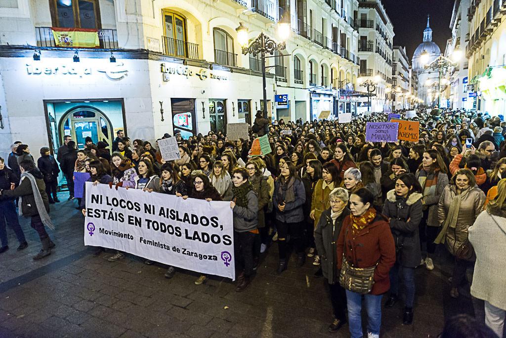 Aragón sale a la calle para reivindicar una sociedad libre de agresiones machistas