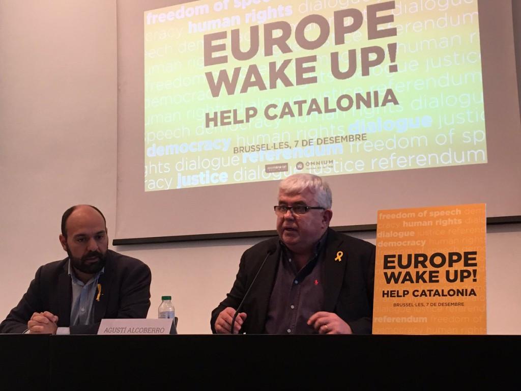 """ANC y Òmnium esperan una movilización masiva en Bruselas para denunciar """"la carencia de democracia del Estado español"""""""