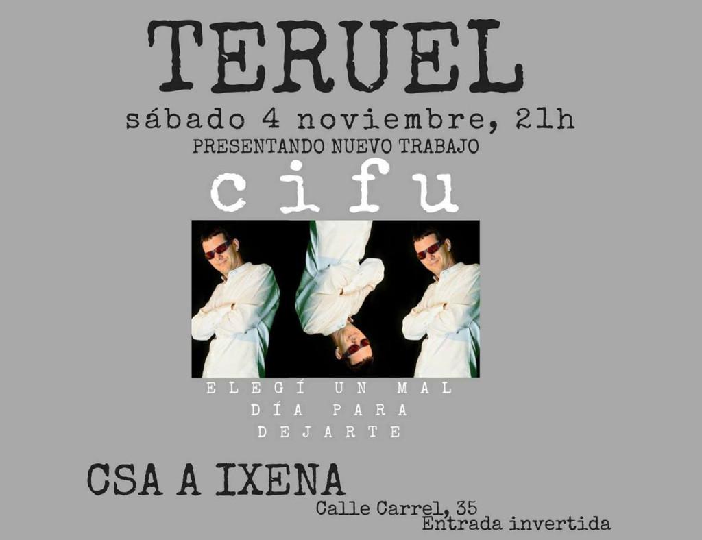 El Cifu en concierto, presentando su nuevo trabajo en el CSA A Ixena de Teruel