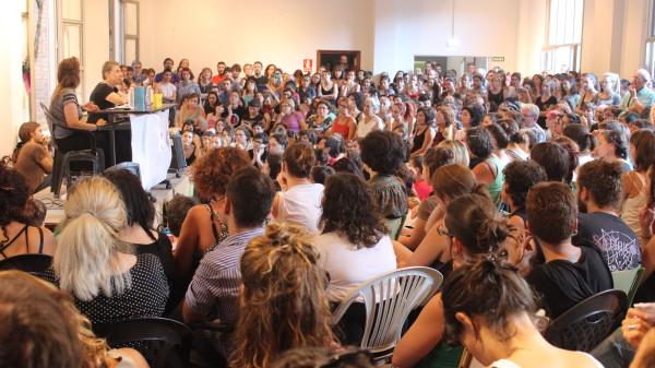 Conferencia de Silvia Federici el pasado mes de septiembre. Foto: CSC Luis Buñuel
